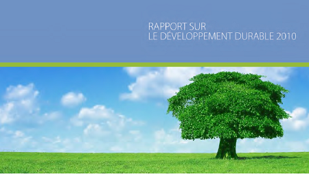Rapport de developpement durable 2010
