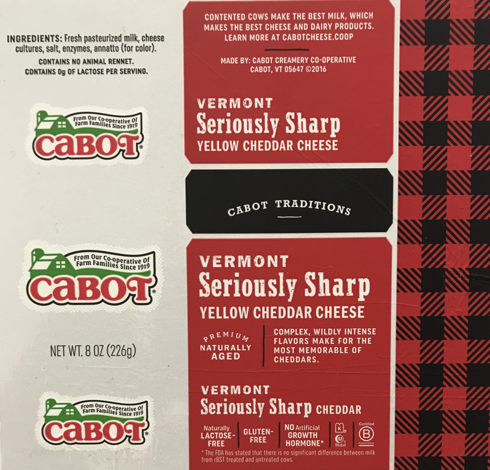 Cabot Vermont Seriously Sharp Shredded Cheddar Cheese