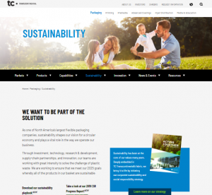 Sustainability Website